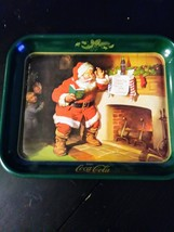 Vintage Coca Cola Metal Tray Santa Claus Dear Santa 1989 Made in USA - $15.88