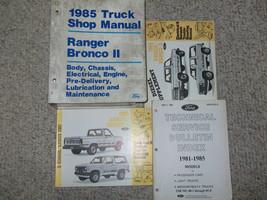 1985 Ford Ranger BRONCO II Camión Servicio Tienda Reparación Manual Juego OEM 85 - $167.88