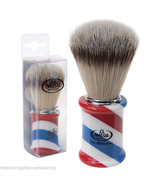 Omega Shaving Brush Barber Pole Handle with Soft High Tech Synthetic Fibers - $45.00