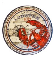 "East Coast Lobster Melamine Plates 6 pc set 10.25"" Dinner Plates NEW Bea... - $48.13"