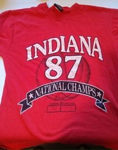 Indiana Hoosiers 87 National Champs Shirt Size Large NCAA Jansport - $12.19