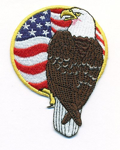American Eagle and American Flag #3 MAGA Proud Embroidered Iron On Patch for Hat