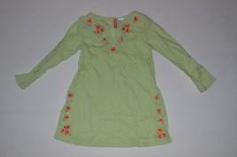 Vintage Gymboree Wildflower Fields Tunic Dress size 5 100% Cotton orange flowers - $7.91