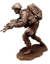 MILITARY SPECIAL ARMED FORCES RESCUE UNIT ON THE MOVE STATUE SCULPTURE S... - £58.89 GBP