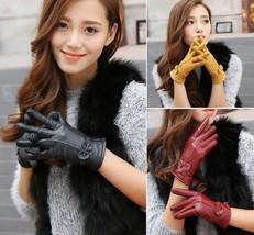 Women Gloves Genuine Sheepskin Leather Fashion Windproof Autumn Winter M... - $17.98