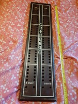 "Vintage Wooden Cribbage Board by Cornwall Wood Products 27"" For Decor Large - $70.00"