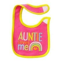 Carter's Auntie Loves Me Pink~ Rainbow Teething ~ Feeding Bib - $7.99