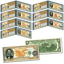 1882 Series Gold Certificates on Real U.S. Genuine $2 Bills - Complete S... - $93.46