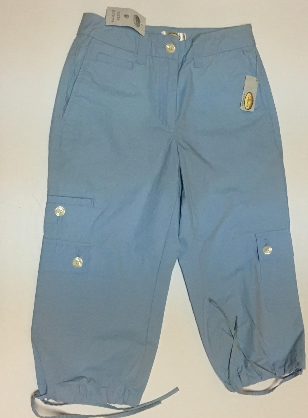 Talbots Baby Blue Capri Petites Stretch SZ 0P NWT