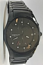Kenneth Cole New York KC15176002 Mens Black Stainless Steel Multifunction Watch - $42.56