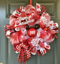 Mickey Mouse Christmas wreath, Mickey Christmas wreath, christmas wreath - $93.14