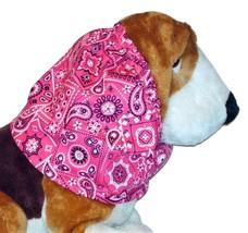 Magenta White Black Paisley Bandana Print Cotton Dog Snood by Howlin Hou... - $12.50