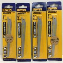 """(New) IRWIN Marathon 372645F 6"""" 6TPI Reciprocating Saw Blades BI-Metal Lot of 4 - $18.80"""