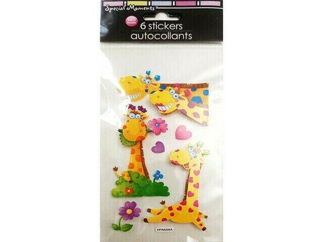 Greenbriar Intl Cartoon Giraffes Sticker Set #1302-176119