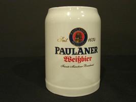 Vintage Paulaner Weissbier Ceramic German Beer Mug Stein