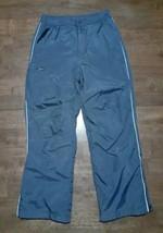 LL Bean Boys Girls Ski Snow Pants Size 8 Gray Nylon Insulated Fleece Lined  - $22.27