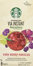 Starbucks VIA Instant Refreshers Very Berry Hibiscus (1 box of 6 packets) - $11.95
