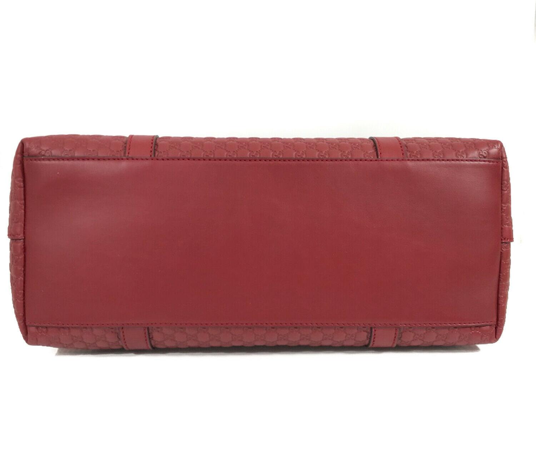NEW GUCCI Microguccissima Leather Zip Top Crossbody Handbag image 12