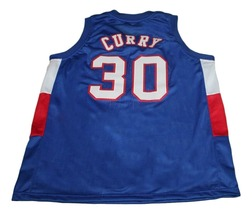 Stephen Curry #30 Knights High School New Men Basketball Jersey Blue Any Size image 2