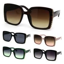 Womens Chic Designer Fashion Rectangular Plastic Sunglasses - $12.95