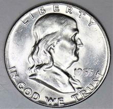 """1955 """"Bugs Bunny"""" Franklin Half Dollar; Choice BU; F.B.L., Frosty White!  - $98.99"""