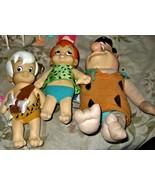 Flintstones - Fred, Bam Bam and  Pebbles (Set of 3 Plush toys) - $75.00