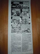 Gillette Razor Blades Fire At Sea Cartoon Print Magazine Advertisement 1947 - $6.99