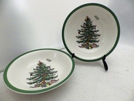 Spode - Christmas Tree pattern - set/lot of 2 Coupe Cereal Bowls - 6 1/4... - $16.34