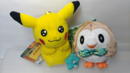 Pokemon   Pikachu & Mokuro Crepe Style  2 Small  Plush  Doll  ( about 4i... - $11.60
