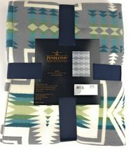 "Pendleton Harding Luxe 100% Polyester 50""x70"" Throw Blanket Southwest Gray NWT image 3"