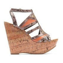 Womens Shoes Jessica Simpson KRISELLA Platform Sandals Wedge Sable Combo - $49.49