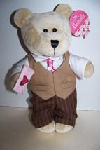 "Starbucks 2007 barista 10"" Plush Valentine's Day Boy Bear - $6.32"