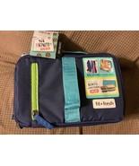 Fit & Fresh Expandable Kids' Bento Lunch Kit - Navy/Aqua Trim - $11.79