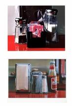 Paquet- 2 Assortiment De Ralph Goings Diner Condiments Lithographs - $1,484.95