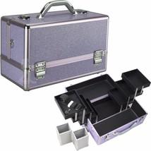 Makeup Train Case Cosmetic Beauty Aluminum Storage Travel Organizer Holder - $54.40