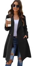 Soly Hux Women'S Lapel Double Breasted Pocket Mid Long Jacket Outwear Tr... - $45.53+