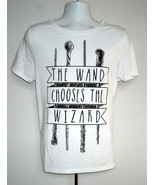 WOMENS HARRY POTTER THE WAND CHOOSES THE WIZARD T SHIRT XL - $21.73