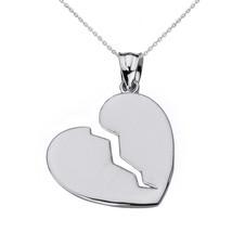 Broken Heart White Gold Pendant Necklace - $97.99+