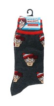 Where's Waldo Socks sz M/L Medium/Large (6-12) Dark Grey - $17.99