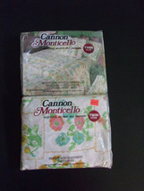 Vintage Cannon Monticello Twin Sheet Set Greenhouse Perennial 70s NIP  - $34.97