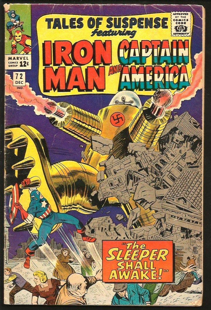 TALES OF SUSPENSE #72 IronMan Capt. America The Sleeper Shall Awaken Kirby Tuska