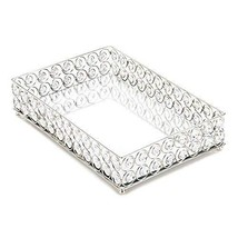 Accent Plus Decoration Tray, Shimmer Decorative Table Display Modern Cry... - $143.19