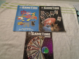 3 vintage 1991 World League Pro Football Gametime magazine program issues - $15.99