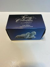 "Avon Nativity Collectibles ""Sheep"" White Porcelain Figurine 1983 in Box - $13.85"