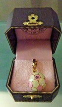 New Juicy Couture Pink & White Soccer Ball Charm For Bracelet - 4U SOCCE... - $88.11