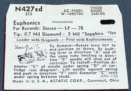 Astatic N427-sd RECORD NEEDLE STYLUS replacement for Westinghouse SG24 SG25 image 2