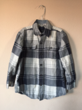 Gap Kids Boys Plaid Checkered Button Front Shirt Top Size 6-7 - $7.92