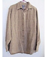 Crazy Horse Ultra Suede Tan w/ Stitch Accents Button L/S Shirt or Over T... - $11.88