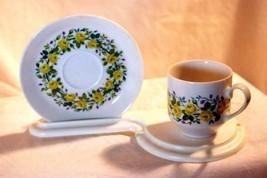 Winterling Schwarzenbach Yellow Rose Demitasse Cup And Saucer Set - $8.99