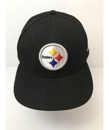 ed16d9b7c417c Pittsburgh Steelers Black Twill Hat Round Logo Genuine NFL Size 7 3 4 NWOT -